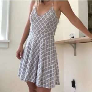 Kimchi Blue Grey & White Patterned Mini Dress
